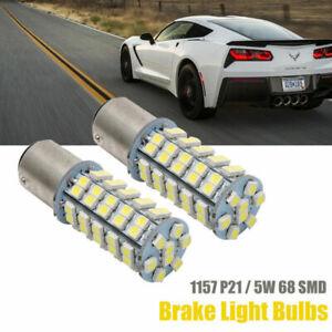 2x 1157 BAY15D 68smd P21/5W LED Bremslicht Birne Rücklicht Lampe 12V Weiß DHL
