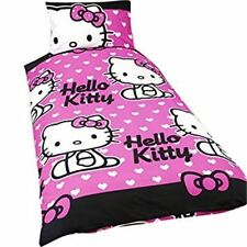 HELLO KITTY 'Hearts Simple Rotary Housse de couette et taie d'oreiller