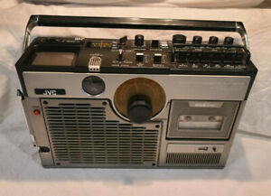 Vintage JVC 3060 AM FM TV Variable Sound Monitor Boombox - TV, TAPE & RADIO WORK