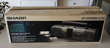 Mint Sharp QT-CD20 Boombox Portable Stereo in Original Box. Rare find