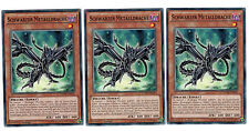 3 x Schwarzer Metalldrache CORE-DE022,1. Auflage, Common, Playset, Mint, Deutsch