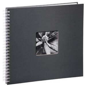 Hama Spiral-Album / Fotoalbum Fine Art  36 x 32 cm weiße seiten grau 2113