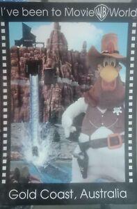 Souvenir postcard - I've been to WB Movie World, Gold Coast, Queensland