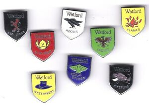 Watford FC rare Collection of Reeves Badges 8 in total