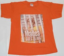 """Vintage 2009 Tyler Perry's """"Madea Goes To Jail"""" Movie Promo Orange T-Shirt LARGE"""