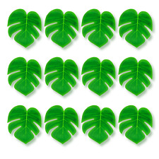 144PCS Artificial Monstera Hawaiian Palm Leaves Tropical Jungle Luau Decor BULK