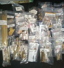 135 Various Wood turning Pen Kits, 30 clips, 78 bushings, bolt, 24k 10k,.50 cal