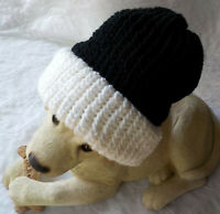 THICK Ribbed Beanie Knit Hat Ski Cap Skull Warm Winter Cuff Blk-White (BlackTop)
