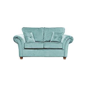 Wayfair Lila 2 Seater Eau De Nil Blue/Green Velvet Sofa RRP £789 CLEARANCE C236