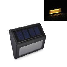 LED Solar Wand leuchte Ouutdoor Licht Sensor Warnweiß Hausnummernleuchten