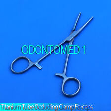 "Titanium Tube Occluding Clamp Forceps 6"" Serrated Surgical Instruments"