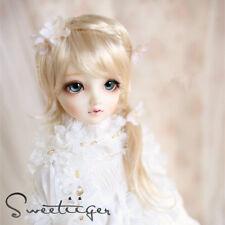 """8-9"""" 1/3 BJD Hair IP SD doll wig Super Dollfie blonde French braid M-mohair"""