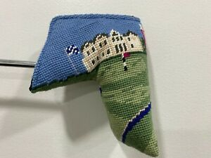 St. Andrews Needlepoint Premium Golf Blade Putter Headcover With Magnetic Clasp