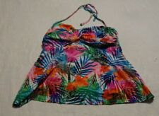 Women's size 2X (18-20) flowered tankini TOP ONLY
