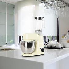 Set: Küchenmaschine Rührmaschine Knetmaschine Standmixer Teigkneter Beige 800W