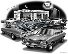 CHEVELLE 1968 MUSCLE CAR AUTO ART PRINT  #1221   **FREE USA SHIPPING**