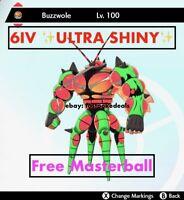 -Pokemon Sword and Shield- ✨Ultra Shiny✨ 6IV Buzzwole FAST D Ultra Beast