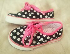 Circo New Toddler Girl's 5 Cute Polka Dot Shimmer Lace Tennis Shoes