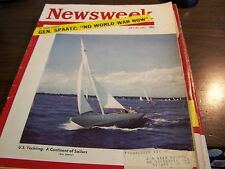 VINTAGE - NEWSWEEK 7/30/51 - U.S. YACHTING: A CONTINENT OF SAILORS - VG