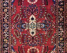Fantastic Floral - 1940s Antique Oriental Rug - Handmade Carpet - 5.4 x 6.7 ft.