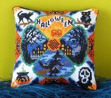 Halloween Night Mini Cushion Cross Stitch Kit, Sheena Rogers Designs