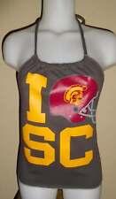 Ladies USC Reconstructed Trojans Gameday Shirt Halter Top DiY Size S