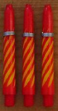"5 Sets(5X3)Spiroline Plus ""Red+Yellow"" short Deflectagrip Dart Stem/Shaft(2BA)"