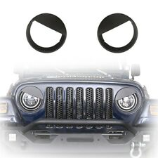 Black Headlight Trim Cover Angry Bird Ring Bezels For Jeep Wrangler TJ 1997-2006