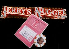 JERRYS NUGGET CASINO Vintage Las Vegas RED CARDS & $1 CHIP