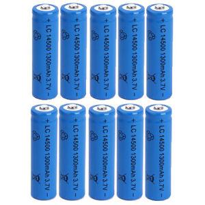 10 BATTERIA RICARICABILE LC 14500 1300mAh 3.7V batterie ricaricabili blu 14x50mm