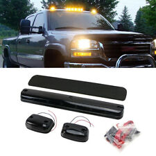 3Pcs Smoke Amber LED Cab Roof Marker Light For Chevy GMC 2500HD 3500HD 2007-2020