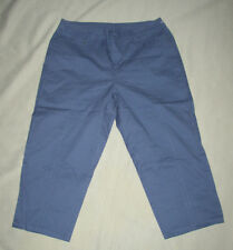 12 ~ croft & barrow ~ cotton stretch capri ~ federal blue ~ 12 ~ NwoT