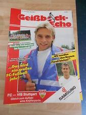Geißbock Echo 1 FC Köln Nr.1 vom 9.8.1989 gegen VFB Stuttgart