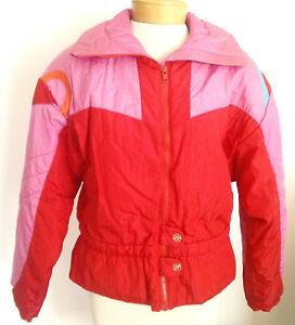 Roffe Size 8 Women's Stargazer Ski Jacket, Pink & Red, Very Nice Condition