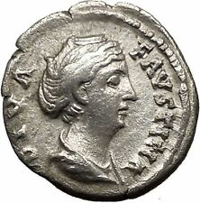 Faustina I Silver Ancient Roman Coin Deification Ceres Cult   Torch Hope i36394