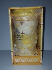 Temp-Tations Old World Ceramic Travel Mug 16oz NEW IN BOX w/ Silicone lid Yellow