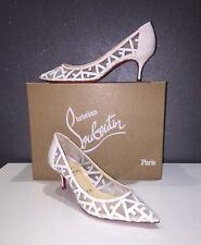 NEW Christian Louboutin Tititata Pump Bridal Wedding Shoes 55mm EU 3 5.5 US 5.5