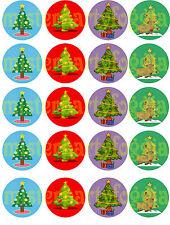 Cialda - Ostia per Cupcakes NATALE - 20 Dischetti da 5 cm. per i tuoi cupcakes