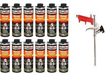 SET Pistolenschaum 12 x 500ml + 1  Metall Schaumpistole Montageschaum Qualität