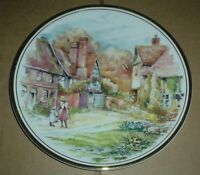 Edwardian Fine China Collectors Plate Cottage Scene #3