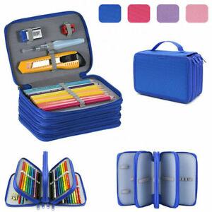 1X Large Capacity Pencil Pen Case Makeup Storage Bag Organizer Travel School AU