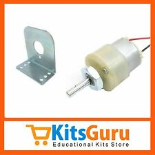 DC motor 12V Geared 30RPM & ORIGINAL Metal Gears + Clamp KG150