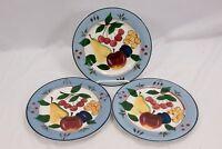"""Cambridge Potteries Fruit Salad Plates 7.75"""" Set of 3"""