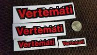 2 PAIR Vertemati MX sticker decal VOR motocross label.