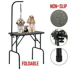 More details for portable pet dog grooming table height adjustable with arm noose & folding legs