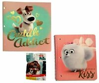 The Secret Life of Pets 1 Subject Notebook Vinyl Portfolio Folder Eraser Lot NEW