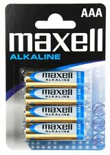 4 X PILAS BATERY ORIGINAL MAXELL AAA LR03 1,5V AA ALCALINAS LR03 MAXELL BATERIES