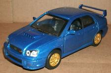 1/32 Scale 2004 Subaru Impreza WRX STI Turbo Sedan Diecast Model - New Ray Blue