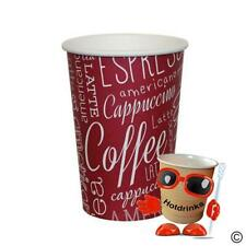 More details for boxes of 1,000 x 12oz paper 'rosa' tall vending cups for coffee, tea, choc etc