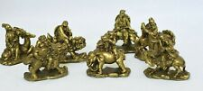 ANTIQUE SET OF UNIQUE CHINESE BRASS 7 FIGURES